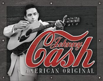 Placa de metal Cash - American Original