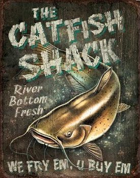Placa de metal CATFISH SHACK