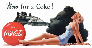 Placa de metal COKE NOW FOR