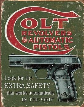 Placa de metal COLT - extra safety