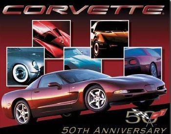 Placa de metal CORVETTE - 50th car