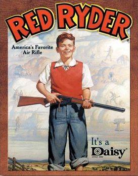 Placa de metal  Daisy red Ryder