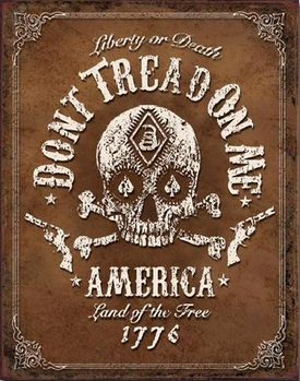 Placa de metal Don't Tread On Me - Black Jack