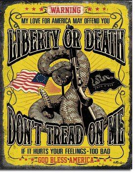 Placa de metal  Don't Tread On Me - Warning