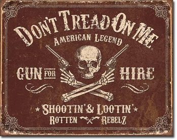 Placa de metal DTOM - Gun for Hire