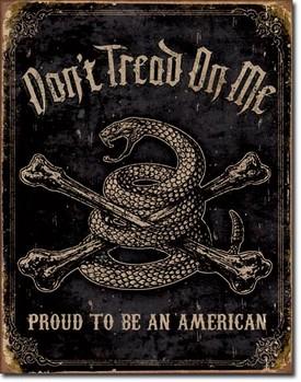 Placa de metal  DTOM - proud american