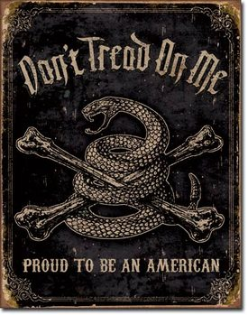 Placa de metal  DTOM - Proud to be American