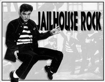 Placa de metal Elvis - Jailhouse Rock