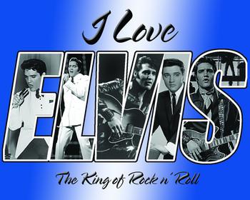 Placa de metal ELVIS PRESLEY - i love elvis