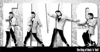 Placa de metal Elvis Presley - King Montage