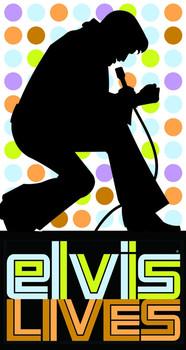 Placa de metal ELVIS PRESLEY - lives
