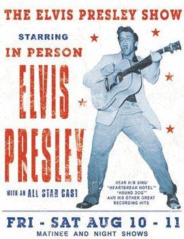 Placa metálica Elvis Presley - Show