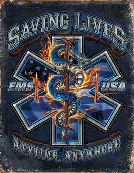 Placa de metal  EMS - Saving Lives
