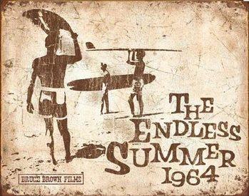 Placa de metal Endless Summer Retro
