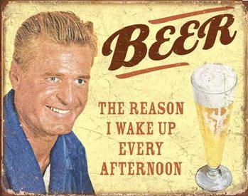 Placa de metal EPHEMERA - BEER - The Reason
