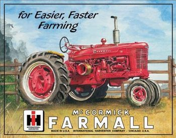 Placa de metal  FARMALL - m