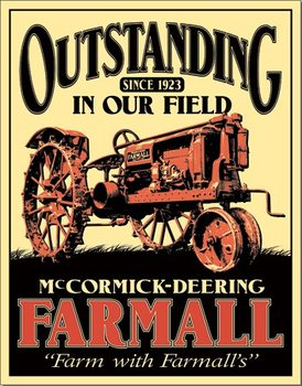 Placa de metal Farmall - Outstanding