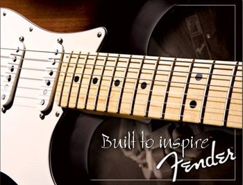 Placa de metal Fender - Strat since 1954