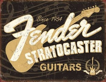 Placa de metal  Fender - Stratocaster 60th