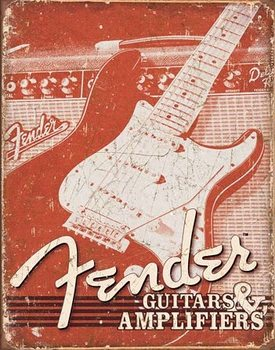 Placa de metal Fender - Weathered G&A