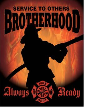 Placa de metal Firemen - Brotherhood