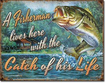 Placa de metal  Fisherman's Catch