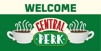 Placa de metal Friends - Welcome to Central Perk