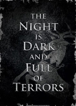 Placa de metal  Game Of Thrones - Night Dark