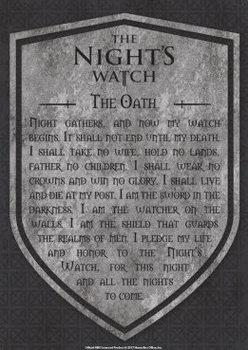 Placa de metal  Game Of Thrones - Nights Watch