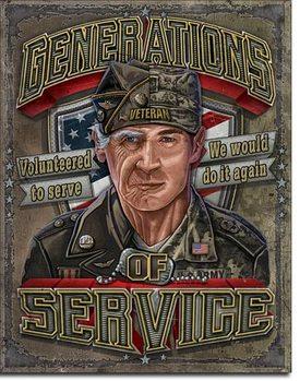Placa de metal  Generations of Service