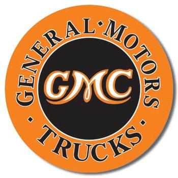Placa de metal GMC Trucks Round
