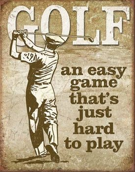 Placa de metal  Golf - Easy Game