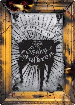 Placa de metal Harry Potter - Cauldron