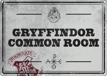Placa de metal  Harry Potter - Common Room