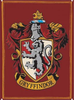 Placa de metal  Harry Potter - Gryffindor