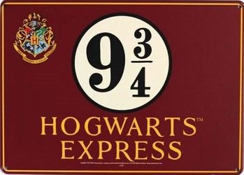 Placa de metal  Harry Potter - Hogwarts Express