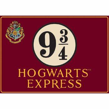 Placa de metal Harry Potter - Hogwarts Express
