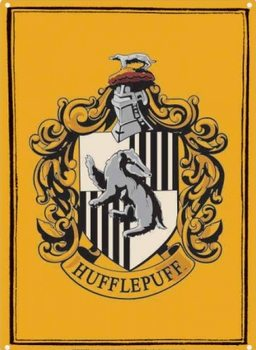 Placa metálica Harry Potter - Hufflepuff