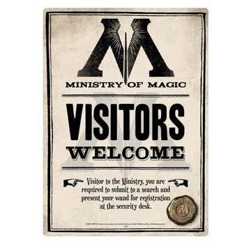Placa metálica Harry Potter - Ministry Of Magic