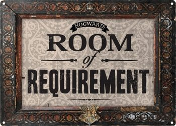 Placa de metal Harry Potter - Room Of Requirement