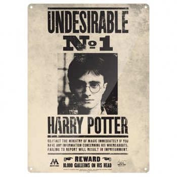 Placa de metal  Harry Potter - Undesirable No.1