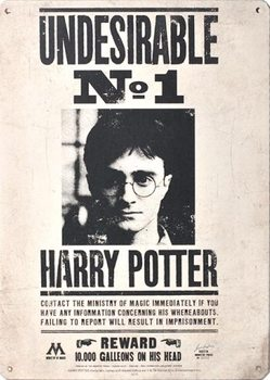 Placa de metal Harry Potter - Undesirable No 1