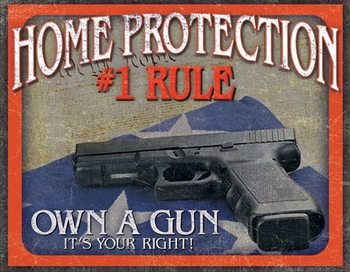 Placa de metal Home Protection - #1