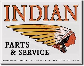 Placa de metal INDIAN - logo