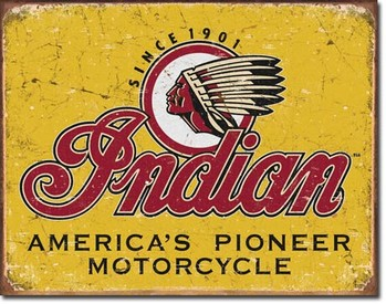Placa de metal INDIAN - motorcycles since 1901