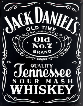 Placa de metal JACK DANIEL'S  BLACK