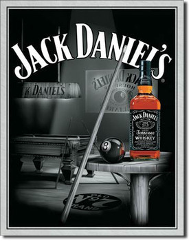 Placa de metal JACK DANIEL'S  POOL HALL
