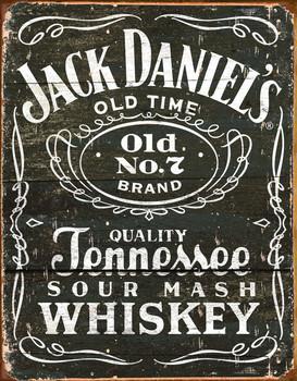 Placa de metal JACK DANIEL'S  VINTAGE LABEL