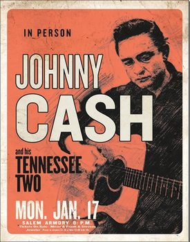 Placa de metal Johnny Cash & His Tennessee Two