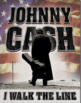Placa de metal Johnny Cash - Walk the Line